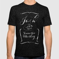 Jack Mens Fitted Tee Tri-Black SMALL