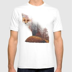 Misty Fox SMALL Mens Fitted Tee White