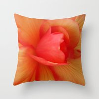 Strawberries and Cream Abstract. Throw Pillow