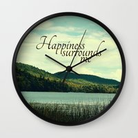 Happiness Surrounds Me Wall Clock