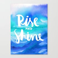 Rise And Shine - Collaboration by Jacqueline Maldonado and Galaxy Eyes Canvas Print