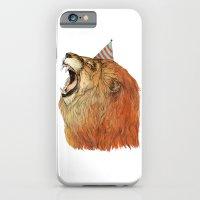 iPhone Cases featuring Birthday Lion by Sandra Dieckmann