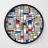 Map Lines Mond Wall Clock