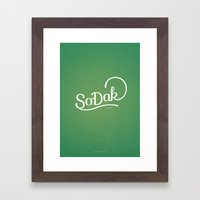 So. Dak. Green Framed Art Print