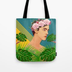 BOY OVER FLOWERS Tote Bag