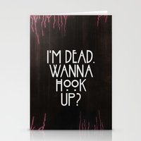 I'm Dead. Wanna Hook Up? Stationery Cards
