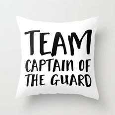 Team Captain of the Guard  Throw Pillow