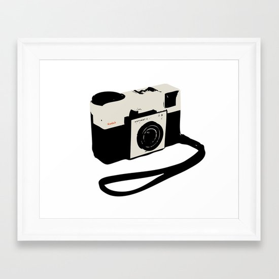 ivory kodak instamatic camera Framed Art Print