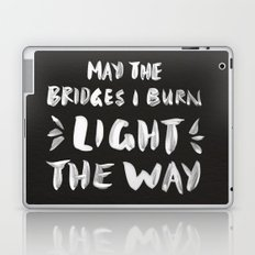 Burned Bridges – Black & White Laptop & iPad Skin