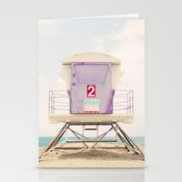 Lifeguard Tower 2  Stationery Cards