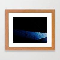 The blue modern architecture Framed Art Print