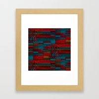 Dark Reds In Lines Of Ch… Framed Art Print