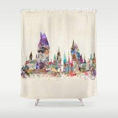 hogwarts school of magic Shower Curtain