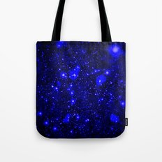Dark Matter Galaxy Blue Tote Bag