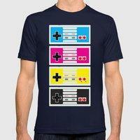 CMYK Retro Gamer  Mens Fitted Tee Navy SMALL