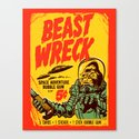 BEASTWRECK ATTACKS! Canvas Print