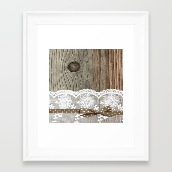 FRENCH LACE Framed Art Print