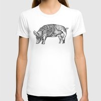 Pig Womens Fitted Tee White SMALL