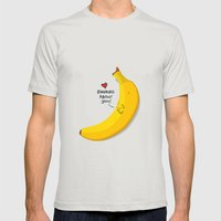 bananas about you Mens Fitted Tee Silver SMALL