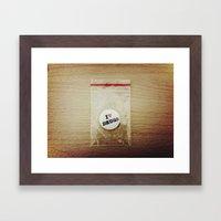 Addiction Or Dependence Framed Art Print