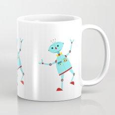 Dancing Robot Blue Mug