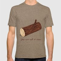 You Can Ask It Now (The Log Lady's Log) Mens Fitted Tee Tri-Coffee SMALL