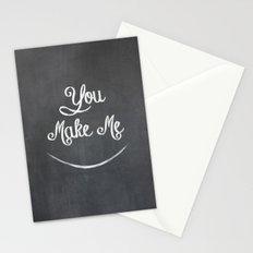 You Make Me Smile - Chalkboard Stationery Cards