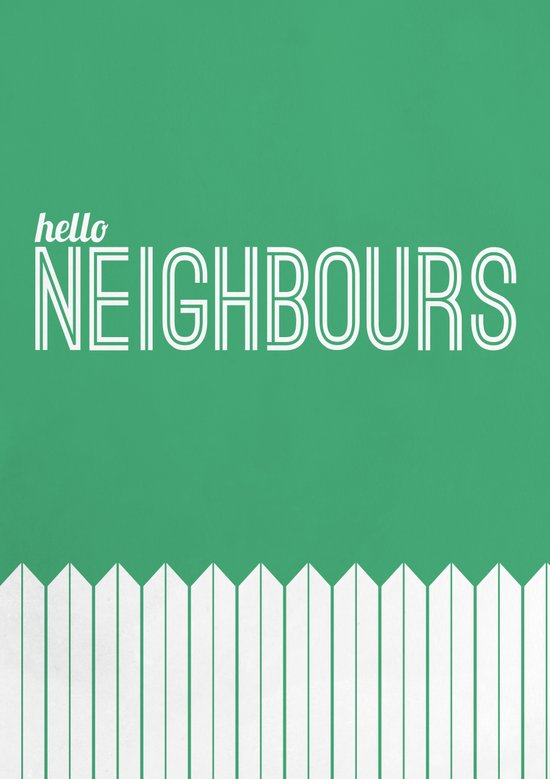 Neighbours Art Print