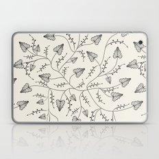 Beautiful herbs. Black and white pattern . Laptop & iPad Skin