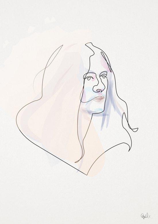 One Line Kurt Vile Art Print