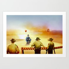 texas exile Art Print