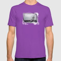 danger Mens Fitted Tee Ultraviolet SMALL