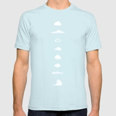 Famous Clouds Light Blue SMALL Mens Fitted Tee