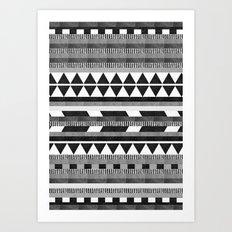 DG Aztec No.1 Monotone Art Print
