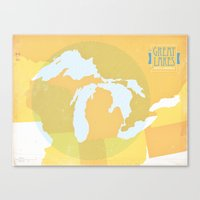 The GREAT LAKES of NORTH AMERICA Canvas Print