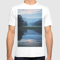 Sunset in the Great Smoky Mountains SMALL Mens Fitted Tee White