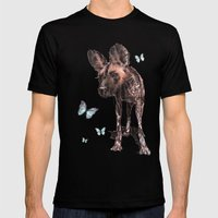 Painted Dog Mens Fitted Tee Black SMALL