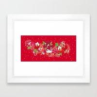 Kokeshina - Automne / Fall Framed Art Print