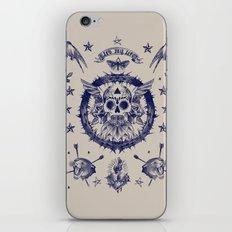 SAILORNAVY SKULL iPhone & iPod Skin