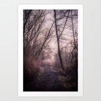 the path over the bridge Art Print