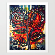Caught on Fire Art Print