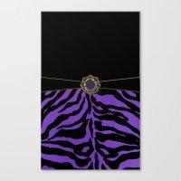 Purple Zebra Background Canvas Print