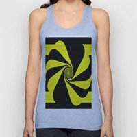 Abstract. Yellow+Black. Unisex Tank Top