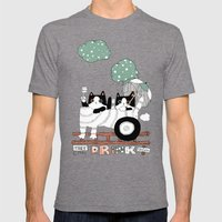 Train Mens Fitted Tee Tri-Grey SMALL