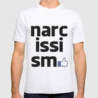 narcissism Mens Fitted Tee Ash Grey SMALL