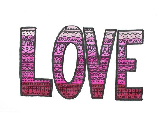 Love Design Art Print