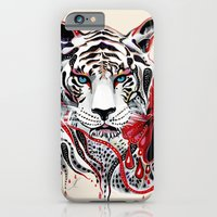 tiger iPhone & iPod Cases featuring White Tiger by Felicia Atanasiu