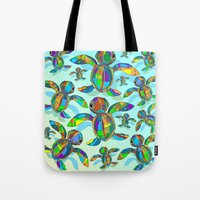 Baby Sea Turtle Fabric T… Tote Bag