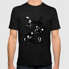 The Avengers Minimal Black and White Mens Fitted Tee Tri-Black SMALL