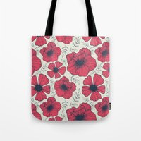 Raspberry Flowers Tote Bag